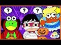 Trick or treating on halloween in haunted House with Ryan | Cartoon animation for Kids!!!