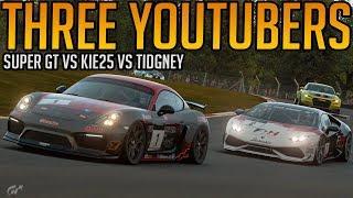 Gran Turismo Sport:  Three YouTubers in The Same Race