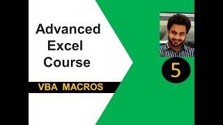 Advanced excel(vba) tutorial 5 : Dim, Public, Private & Global Keywords