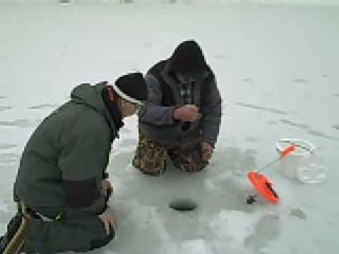 Gary Engberg Outdoors Ice Fishing for Bass on Farm Ponds 2 17 09