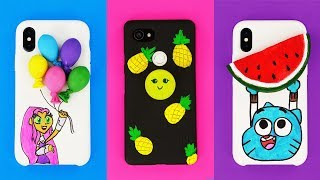 6 DIY STRESS RELIEVER PHONE CASES | Brilliant Ideas For Family And Fun