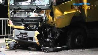 preview picture of video 'Schwerer Verkehrsunfall auf Lechbrücke B16, nahe Rain am Lech'