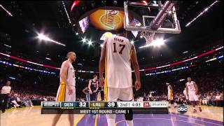 Referee Pulls on Bynum's Jersey For No Obvious Reason