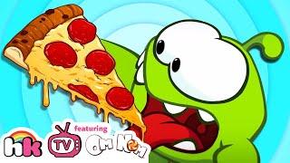 Om Nom Stories TASTY PIZZA TIME | Video Blog | Funny Animal Cartoons for Children | HooplaKidz TV