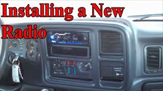 2004 Chevy silverado 1500 radio installation