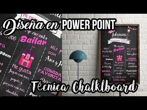 Aprende a diseñar un CHALKBOARD desde CERO! - SOLO POWER POINT -  PARA Fiestas Temáticas