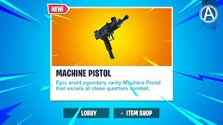 "NEW ""MACHINE PISTOL"" Update! // Pro Console Player // 1600+ Wins (Fortnite Battle Royale LIVE)"