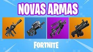 FORTNITE - NOVAS ARMAS ADICIONADAS AO JOGO | FORTNITE BATTLE ROYALE
