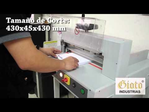Guillotina Eléctrica 3951   Industrias Gioto