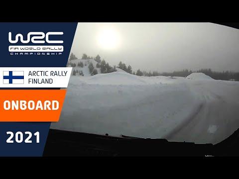 ヤリスWRC勝田選手のオンボード映像 WRC 2021 第2戦のラリーフィンランド 雪道が得意な勝田選手の走りが見られるオンボード映像