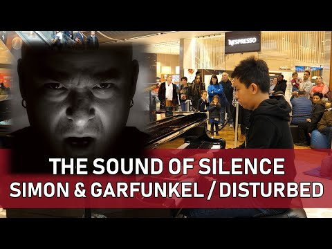 The Sound of Silence Mashup Disturbed Simon & Garfunkel Public Piano Cole Lam 12 Years Old
