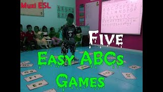 212 - Easy Alphabets Games | ESL Games For ABCs | Review Letters | Muxs ESL Games |