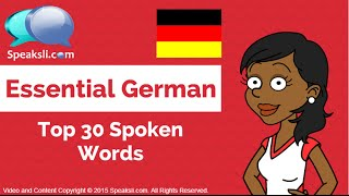 Top 30 Spoken German Words - 1 | Learn German | Speaksli