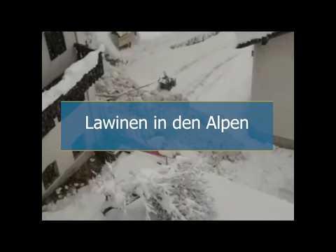 Lawine trifft Ort in Südtirol (17.11.2019)