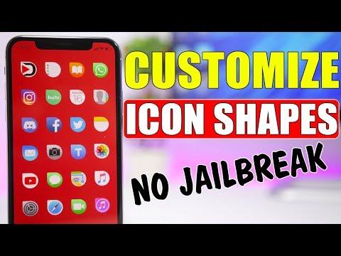 NEW Change Icon Shapes On iOS 11.4 & iOS 12 * NO Jailbreak *