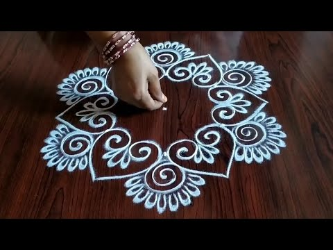 simple 3 dot kolam design by sresta