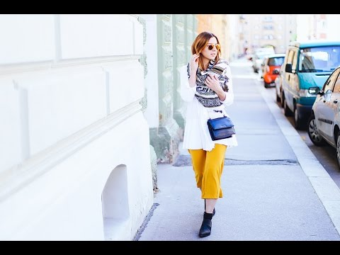 Outfit of the day I Peplum Bluse, gelbe Culotte I Who is Mocca?