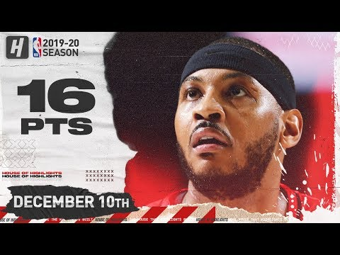 Carmelo Anthony 16 Pts Full Highlights | Knicks vs Blazers | December 10, 2019