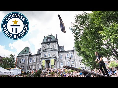 Circus Acrobat's Set World Record for Back Flips