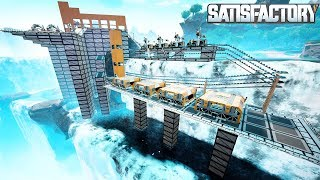 BUILDING A WATERFALL BASE TO MANUFACTURE COMPUTERS IN SATISFACTORY - Satisfactory