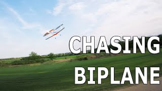FPV drone chasing a biplane. Armattan badger with gopro session5.