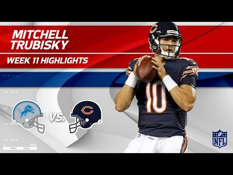 Mitchell Trubisky Highlights | Lions vs. Bears | Wk 11 Player Highlights