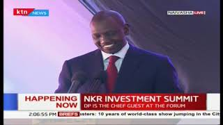 DP Ruto full speech: Nakuru  to be the premier investment destination and industrial hub in Kenya