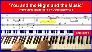 You And The Night And The Music - jazz piano tutorial
