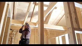Framing the entryway tray ceiling at #jarleifhouse