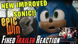Sonic The Hedgehog NEW IMPROVED FIXED Trailer - Angry Reaction!