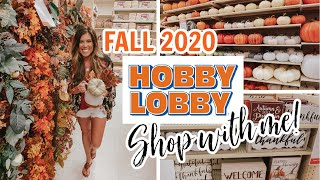 *NEW* HOBBY LOBBY FALL DECOR 2020 | SHOP WITH ME | HUGE FALL DECOR HAUL!