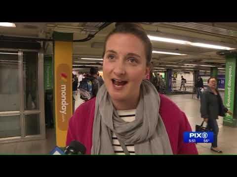 Subway flash mob promotes breast cancer awareness