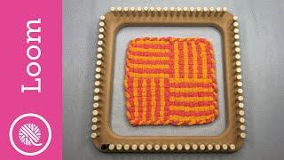 Potholder Loom | 2 Color Pinstripe Weave Hot Pad