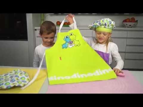 Video Tescoma Dino Dětská kuchařská souprava, zelená 1
