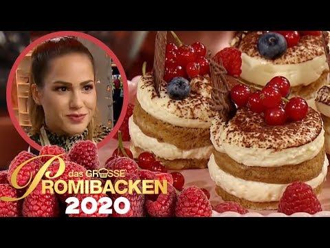 Mini Tiramisu: Angelina Heger macht kleinen Nachtisch   Aufgabe   Das große Promibacken 2020   SAT.1