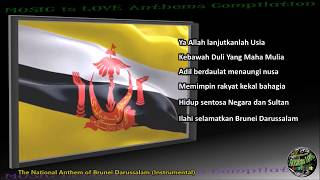 "Brunei National Anthem ""Allah Peliharakan Sultan"" INSTRUMENTAL with lyrics"