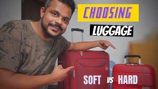 HARD VS SOFT LUGGAGE : SHOPPING TROLLEY BAG