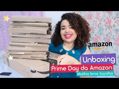 Unboxing de livros da Prime Day Amazon (+ 11 livros) | Estrelado