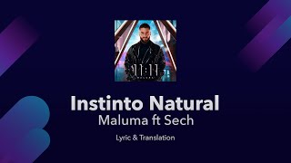 Maluma   Instinto Natural Ft Sech Lyrics English And Spanish   English Lyrics Translation