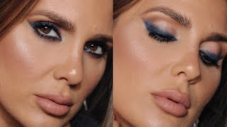 BLUE SMOKEY EYELINER LOOK | MAKEUP TUTORIAL | ALI ANDREEA