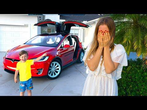 ТАКОЙ ПОДАРОК от СЕНИ Мама НЕ Ожидала! Подарок Tesla Model X! Мама в Шоке!