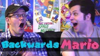 Backwards Super Mario Challenge! - James & Mike Mondays