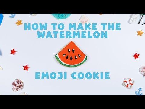 How to Make the Watermelon Emoji Cookie
