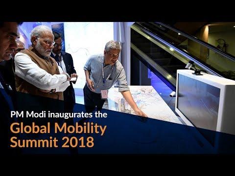 PM Modi inaugurates the Global Mobility Summit 2018