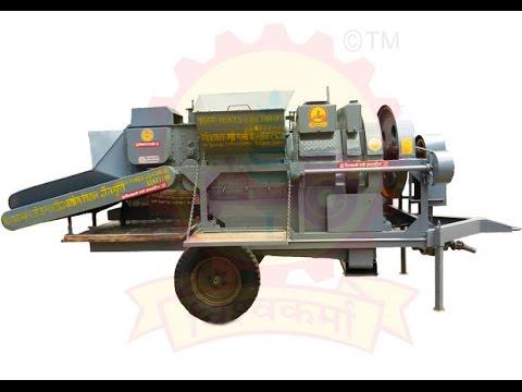 Lower Feeding Multicrop Cutter Thresher Machine (With Elivator)