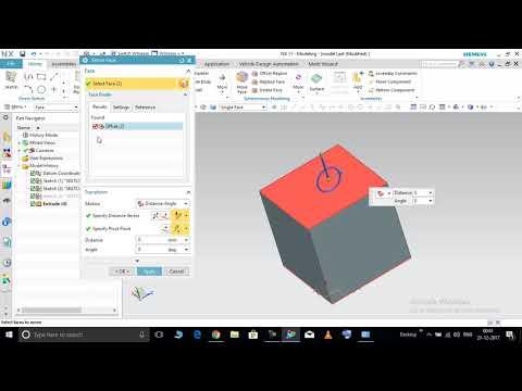 NX 8 Tutorial 1 (Move Object Distance) - смотреть онлайн на
