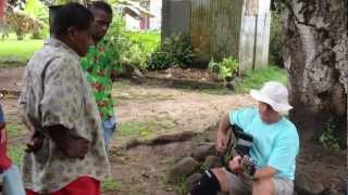 preview picture of video 'Steve Hinnant playing for Nukubalavu Village at Savusavu, Fiji'