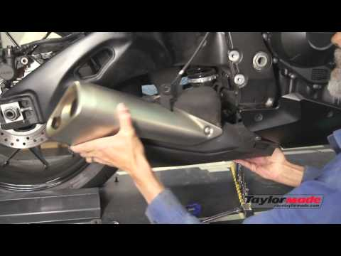 TaylorMade Racing CBR 1000rr GP2 Exhaust Install