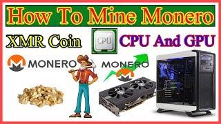 ⚒⛏How To Mine XMR Monero On Windows CPU And GPU Mining Urdu/Hindi By Zakria 2018⛏⚒