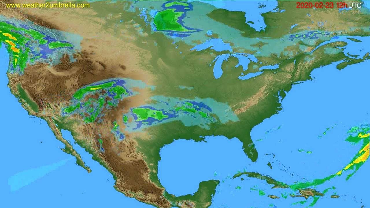 Radar forecast USA & Canada // modelrun: 00h UTC 2020-02-23